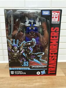 TRANSFORMERS GENERATIONS TOPSPIN STUDIO SERIES #63 DELUXE CLASS ACTION FIGURE