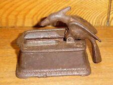 Antique Cast Iron Woodpecker Bird Toothpick / Match Dispenser