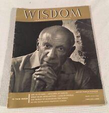 Vintage Wisdom Magazine #25 1958 Artist Pablo Picasso