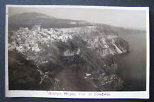 Greece Santorini view from above Rppc Apopsis Thiras