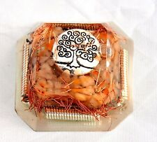 Orgonite Protection Healing Tool Tree of Life, Spiral, Citrine Crystal & Copper