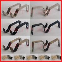 Heavy Duty Metal Bras Black,Silver Curtain Pole Fixing Rod Holders+Wall Brackets