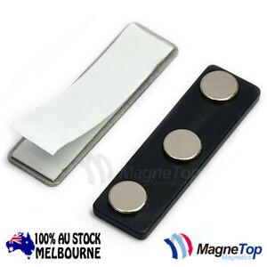 100x Mangetop Magnetics Name Tag Badge Magnet /w Adhesive 3MG1
