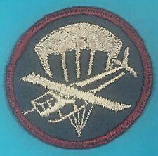 WW 2, AB Para-Glider Garrison Cap Insignia, Emb. on Poplin, Exc. Cond, #20