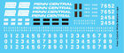 HO Scale - Penn Central Locomotive Medium White Logo
