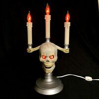 Vintage Blow Mold Skull Indoor Halloween Candles 1994 Trendmasters