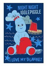 In The Night Garden Iggle Piggle Panel Fleece Blanket Throw Brand New Gift