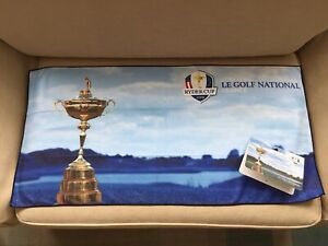 1 x RARE Ryder Cup Tri-Fold Golf Towel Le Golf National 2018