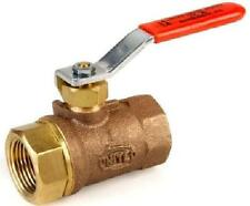 """1 1/2"""" BALL VALVE W/ SOLID STAINLESS STEEL BALL MADE IN USA UNITED BRASS # 80SS"""
