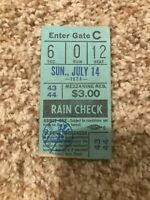 Oakland A's vs New York Yankees Ticket Stub July 14th 1974 Mezzanine Reserved