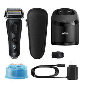 Braun Series 9 Shaver with Clean and Charge System Wet or Dry 100-240V NEW