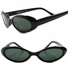 Old Stock Classic True Vintage 80s Fashion Black Rockabilly Cat Eye Sunglasses