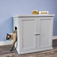 Wooden Furniture Discreet Litter Box,Drawer Storage, W/ Storage, SMOKE, NEW!