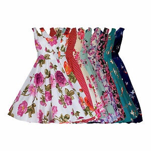 40's 50's Vintage Style Retro Party Rockabilly Tea Dress Many Prints New 8 - 28