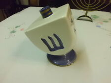 DREIDEL world bazzars inc ceramic driedel on stand made in usa