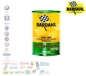 OLIO MOTORE AUTO BARDAHL TECHNOS XFS 0W30 SYNTHETIC OIL mSAPS F950A 1 LT 367040