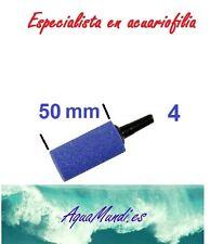 2 x oxigenador aireador bomba aire tubo 50 4 4/6 mm bomba acuario piedra difusor