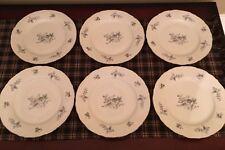 Fine Bohemian China Czechoslovakia - WILD FLOWER - Set Of 6 Bread Plates