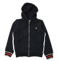 ccef5c611 NWT NEW Gucci baby toddler boys navy blue web hoodie sweat jacket 24m 36m  408106