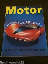 MOTOR MAGAZINE - LOTUS ELAN - AUG 12 1967