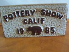"Vintage Howard Pierce Porcelain Limited Edition Pottery Show ""85 Sign !"