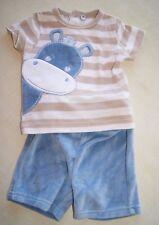 Ensemble short et haut bleu et beige neuf taille 3 mois (b)