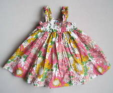 Baby Gap Outlet Girls 12 18 Mo Pink Yellow Green Floral Smocked Sundress EUC