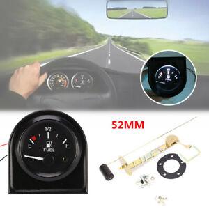 Universal 12V Car Fuel Gauge 52MM Racing Gasoline Meter with White LED Lights