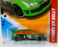 2012 Hot Wheels #196 THRILL RACERS CITY STUNTS 3/5 ∞ CITROEN C4 RALLY ∞ green
