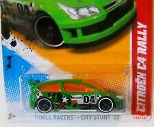 2012 Hot Wheels #196 THRILL RACERS CITY STUNTS 3/5 ∞ CITROEN C4 RALLY ∞ green