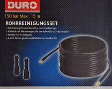 DURO Rohrreinigungsset Rohrreinigungsschlauch 15 m, inkl. 2 Adapter / NEU!