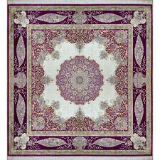 Silk Square Carpet 10'X 10' Open Field Square New