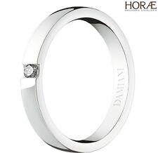 Anello fede donna solitario Damiani Veramore oro bianco diamante wedding ring