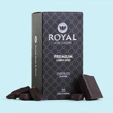 Royal Chocolate Flavored Condoms Ultra Thin Lubricated Vegan Latex, Bulk 20 Pack