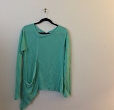 Hard Tail Asymmetrical Turquoise Sweater Top