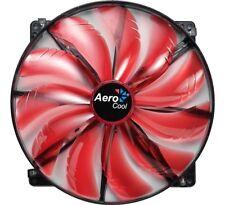Aerocool Silent Master 20 cm Red Edition, Gehäuselüfter (rot, LED, 200 mm)