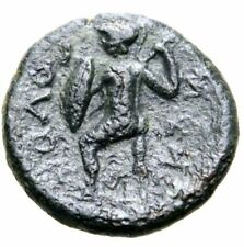 Sicily, Solus Æ 16mm.After 241 BC. Laureate head of Poseidon . Rare