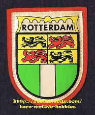 LMH PATCH Woven Badge  ROTTERDAM  Rotown Roffa  Coat Arms NETHERLANDS S. Holland