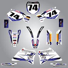 Full  Custom Graphic  Kit - STORM - Yamaha YZ  250  1996 - 2001