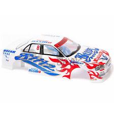 RCG Racing 1/10 Nissan Skyline GTR Body Shell White 190mm S015W