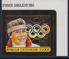 Central Africa 1984 - Sports Winter Olympics Sarajevo 84 Gold Foil Imper. - MNH