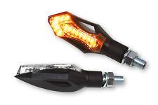 Cristal claro LED mini-intermitentes hatch negro Streetfighter/Custom-Bike/Cruiser