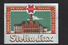 """ETIQUETTE Ancienne BIERE de ST-QUENTIN (02) Brasserie POPULAIRE """"STELLA LUX"""""""
