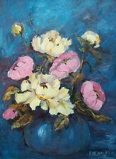 PAT MCNAUGHTON - 'Blue Rhapsody' - Oil Painting on Panel - Canada - Circa 1980