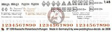 Peddinghaus 1/48 Soviet Russian Tank Markings WWII (builds 7 tanks) [Decal] 1590