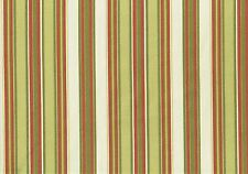 3.50 Yds Mill Creek Fabric Chartreuse Red Green Off White Stripe  Outdoor