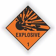 1x Explosive Warning Danger Vinyl Sticker Decal Safety Door Laptop Tablet #01
