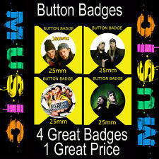JAY AND SILENT BOB - 4 GREAT BUTTON BADGE - 25mm CULT TV AND FILM DVD#1234