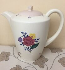 Vintage Poole Pottery Handpainted Rose / Floral Coffee Pot Superb Condition