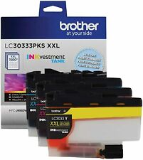 3-PK Genuine Brother LC3033-XXL Ink Cyan/Magenta/Yellow/ Color Combo Set